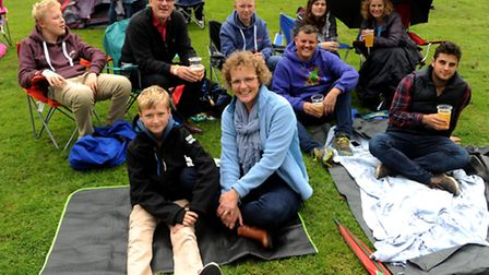 Festival-goers at The Nearly Festival in Holywells Park.