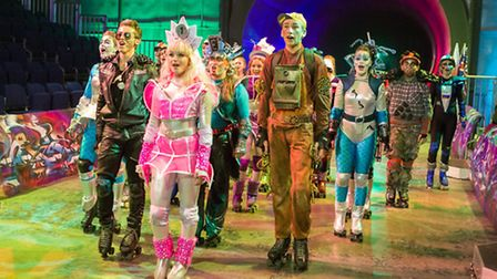 Karl Lankester as Greaseball, Amber Bourne-Williams as Pearl, Holly Metcalfe as Electra and Laurie B