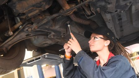 Gemima Christodoulou-Peace is studying Light Vehicle Maintenance and Repair at One sixth form.