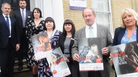 Launch of Suffolk's new Crimestoppers campaign for domestic abuse at Lighthouse, Ipswich. D/Supt da