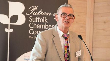 Dave Muller, chair of Ipswich Chamber of Commerce