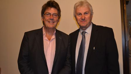 Mike Read and the Felixstowe Spa's Ray Anderson