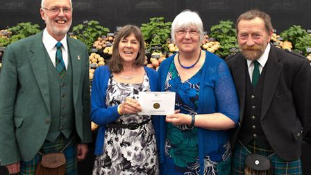 RHS Chelsea gold medal for potato growers, in a display sponsored by Ipswich plant and seed firm Tho