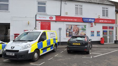 Police investigate the scene of an armed robbery which happened at 6am on Sunday November 22nd, at t
