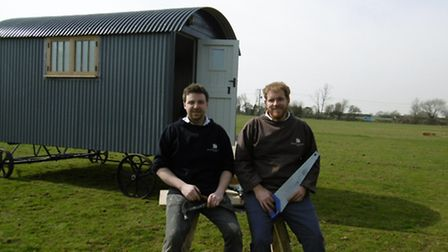 Suffolk Hut Makers, makers of shepherd's huts, Tom Wray and John Archer