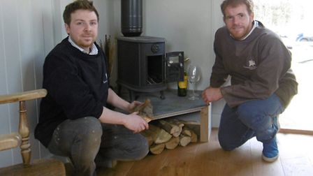 Tom Wray and John Archer of Suffolk Hut Makers.