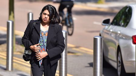 Honey Rose arriving at Ipswich Crown Court.
