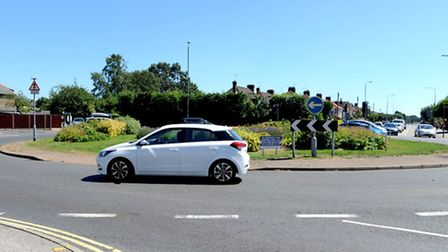 Heath Road roundabout where work is about to start for six weeks.