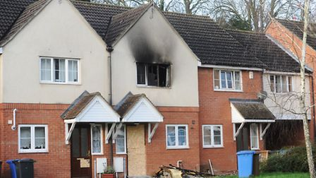 The aftermath of the Christmas evening fire in La Salle Close, Ipswich
