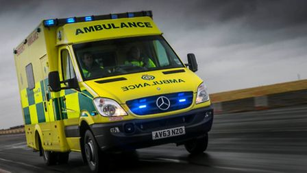 An ambulance from the East of England Ambulance Service.