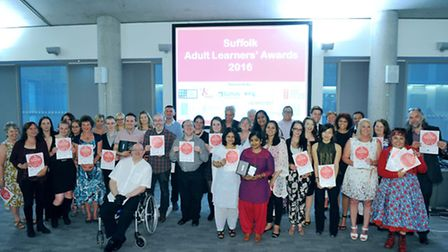 Suffolk Adult Learners Award winners and runners up