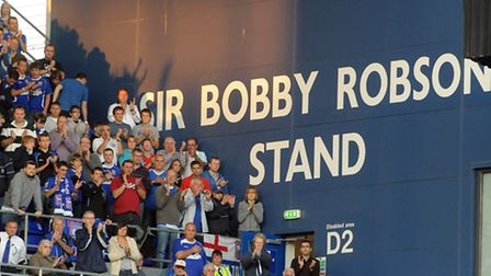 Sir Bobby Robson Stand. Pic: Andy Abbott.