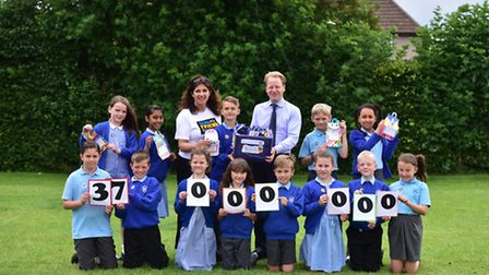 Children at Rushmere Hall Primary School in Ipswich have been taking part in the 'Send My Friend to