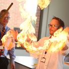 600 primary school children are attending a science fair at Thomas Gainsborough School in Great Corn