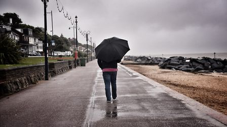 First day of summer by the seaside in Felixstowe