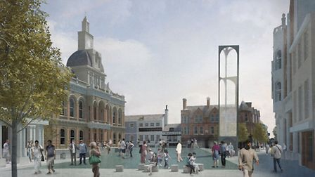 Possible views for the new Cornhill in the heart of Ipswich.