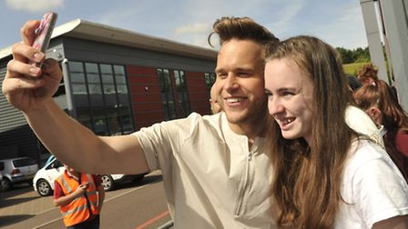 Time for quick snap with Olly Murs during his visit to Anglia Radio in Great Blakenham. Photo: Su An