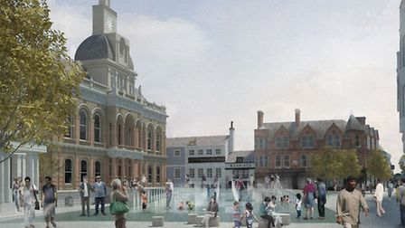 Proposals for a water feature as part of the Cornhill redevelopment have split those who took part i