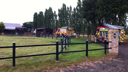 The outbuilding fire off the old A12