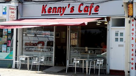 Kenny's Cafe in Nacton Road, Ipswich.