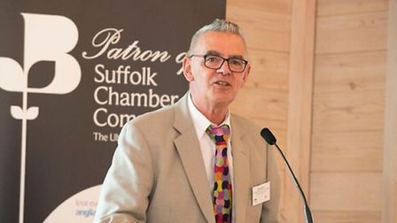 Dave Muller speaking at the Ipswich Vision networking event hosted by the Greater Ipswich Chamber of