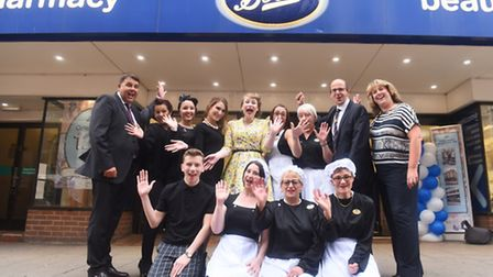 Some of the team at Boots, Ipswich celebrate 120year of the store in the town
