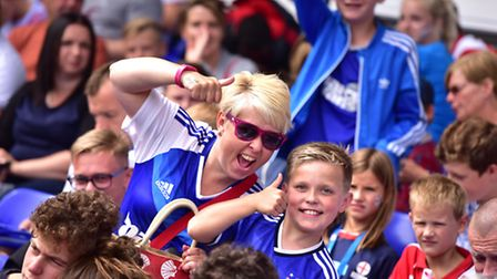 Thousands of fans flocked to Portman Road for the Ipswich Town FC open day. Visitors could get playe