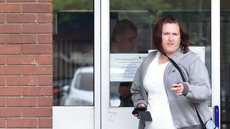 Victoria McCormack leaves Ipswich Magistrates Court.