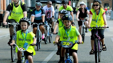 The annual Ipswich Sky Ride weaving through the town on Sunday with all ages taking part.