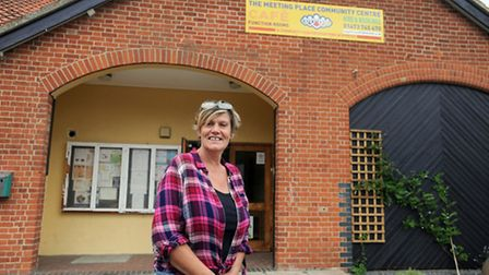 The High Sheriff of Suffolk visits the newly developed Meeting Place in Ipswich. Mags Fortune.