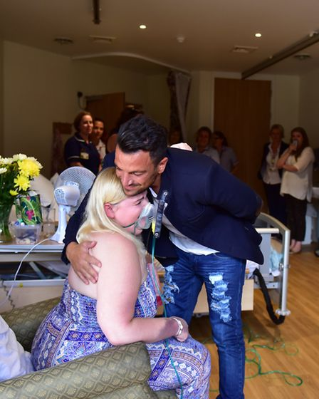 Zoe Goddard had the surprise of her life on Friday afternoon when Peter Andre visited her at the St