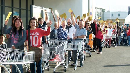 The opening of the new Aldi store at Pinewood.