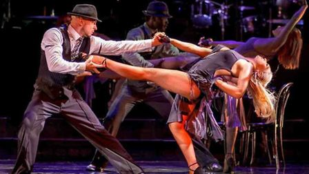 Robin Windsor appearing in Burn The Floor with Kristina Rihanoff in London's West End.