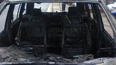 """Owner Mark Gildersleeves said the car went from """"fault to fireball"""" in just three minutes"""