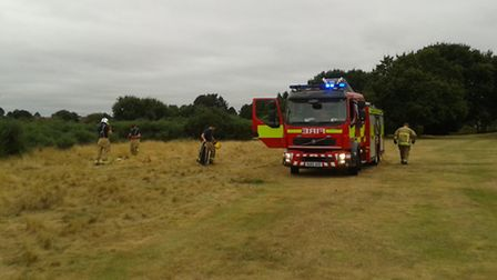 The fire on Rushmere Heath