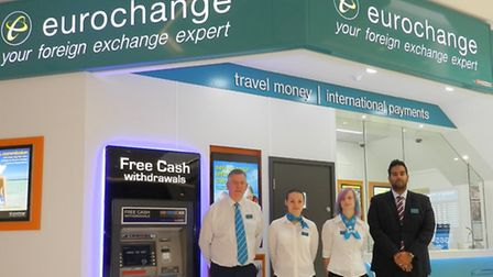 Eurochang opens: Pictured at the opening of the new Eurochange in Sailmakers Shopping Centre are,
