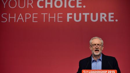 Jeremy Corbyn at a Labour Party leadership event. Photograph: Ben Stanstall/AFP/Getty Images.