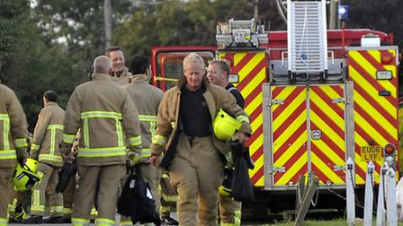 Firefighters attended the incident