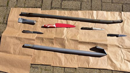 Weapons found in Jubilee Park during a search last summer