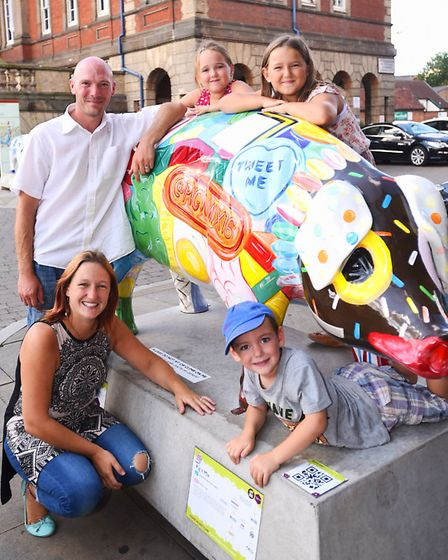 The Powell family enjoying the Pigs Gone Wild trail.