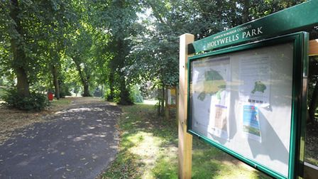 Drug dealing has been reported in covered areas of Holywells Park