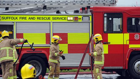 Suffolk fire crews. Library image.