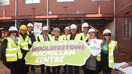 Fundraisers and supporters pictured when the Woolverstone Wish appeal hit its half million mark.