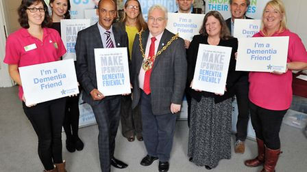 Supporters of the campaign to make Ipswich dementia friendly Photo: James Fletcher