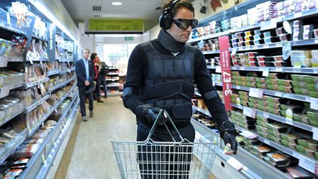 Brad takes on the challenge of shopping in a GERT suit