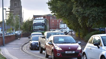 Traffic in areas like Star Lane is often gridlocked - and many drivers blame Travel Ipswich.