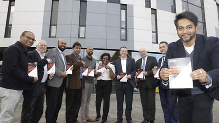 UCS Waterfront: Launch of business awards on Tuesday in Ipswich.Boshr Ali, Chairman of BSC with repr