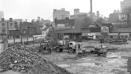 The Lower Brook Street site in April 1964