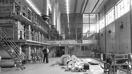 The pressroom at Lower Brook Street in April 1966