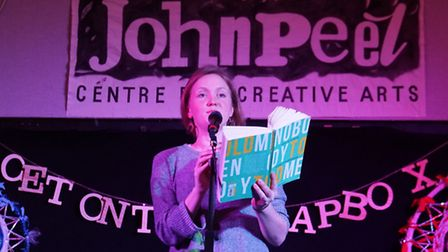 Renowned poet Hollie McNish performing at the John Peel Centre in Stowmarket.